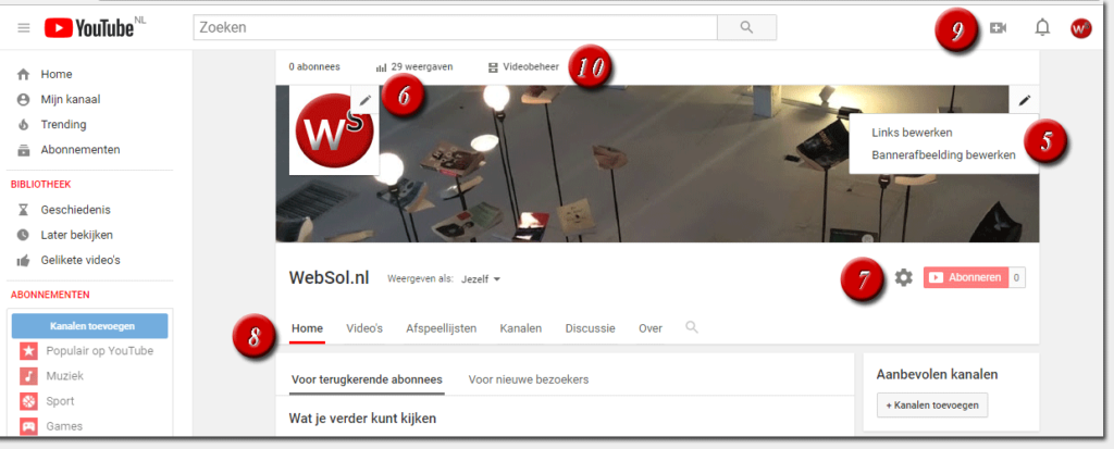YouTube-kanaal inrichten